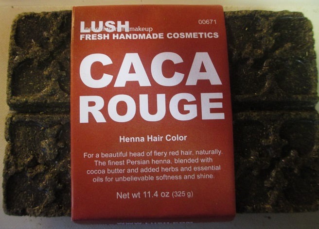 Lush Caca Rouge Henna Hair Color Review Neon Chipmunk
