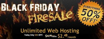 Hostgator Black Friday 50% Sale 2011