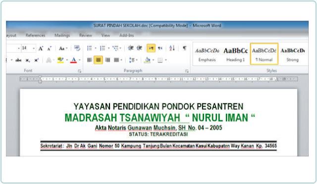 Cara Membuat Dua Garis Double Line Pada Kop Surat Di Ms Word