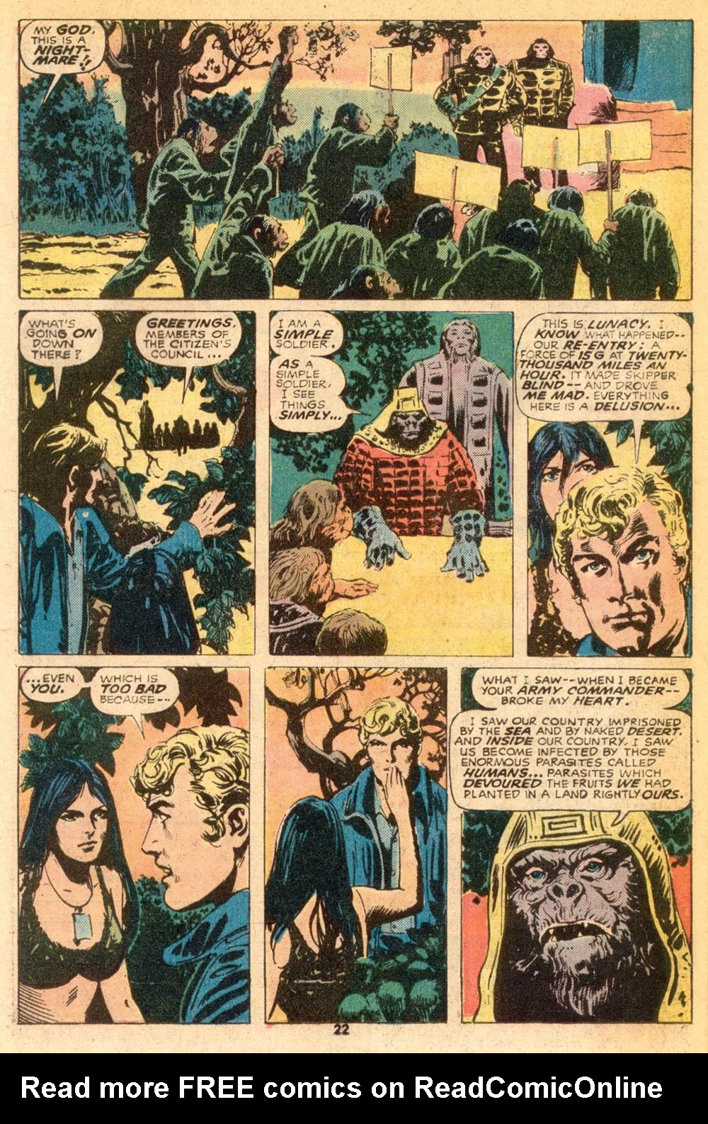 Read online Adventures on the Planet of the Apes comic -  Issue #7 - 14