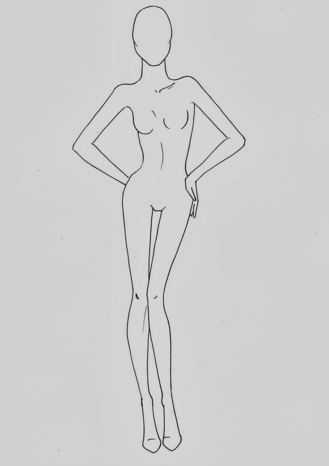 Amato Fashion croquis templates - corpi figurini base moda 2 OL35