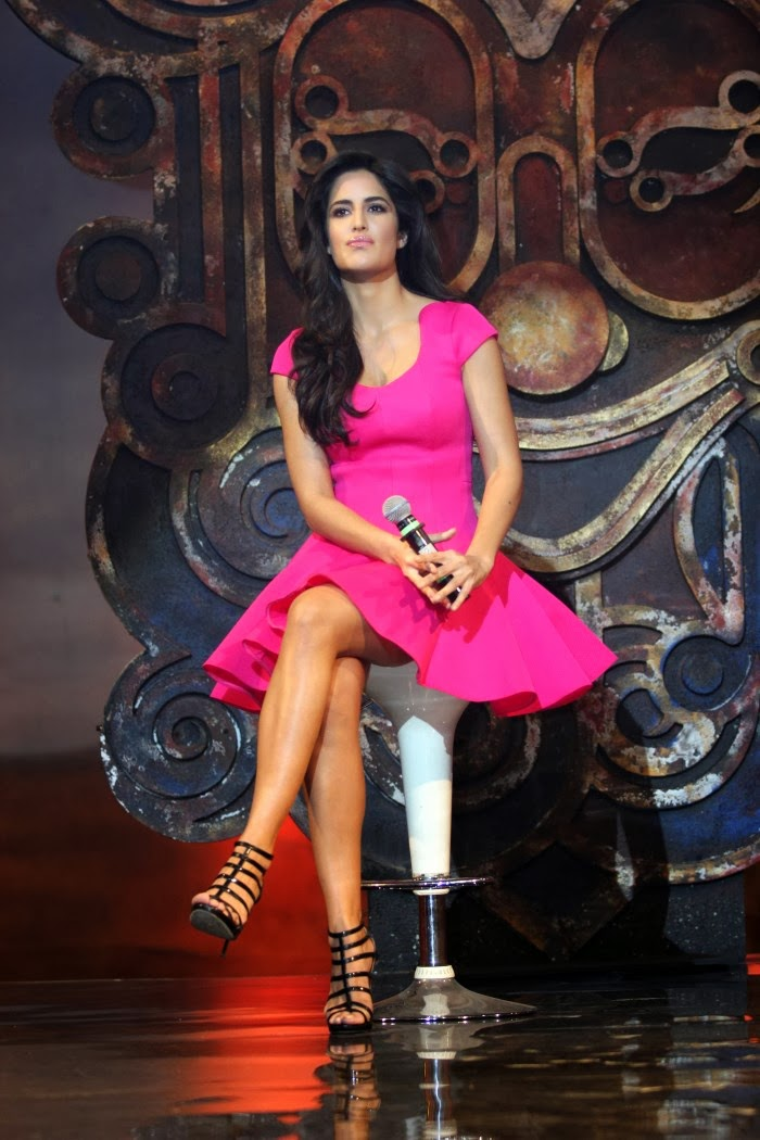 Tamilcinestuff   Katrina Kaif Hot Photos In Pink Short -4550