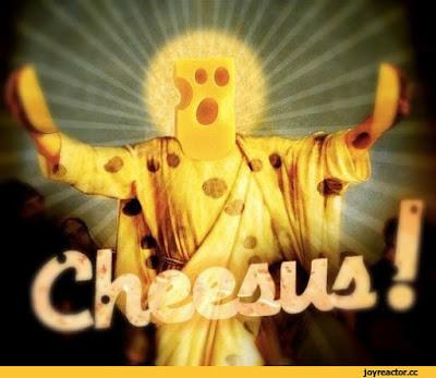 Jesus aus Käse lustig