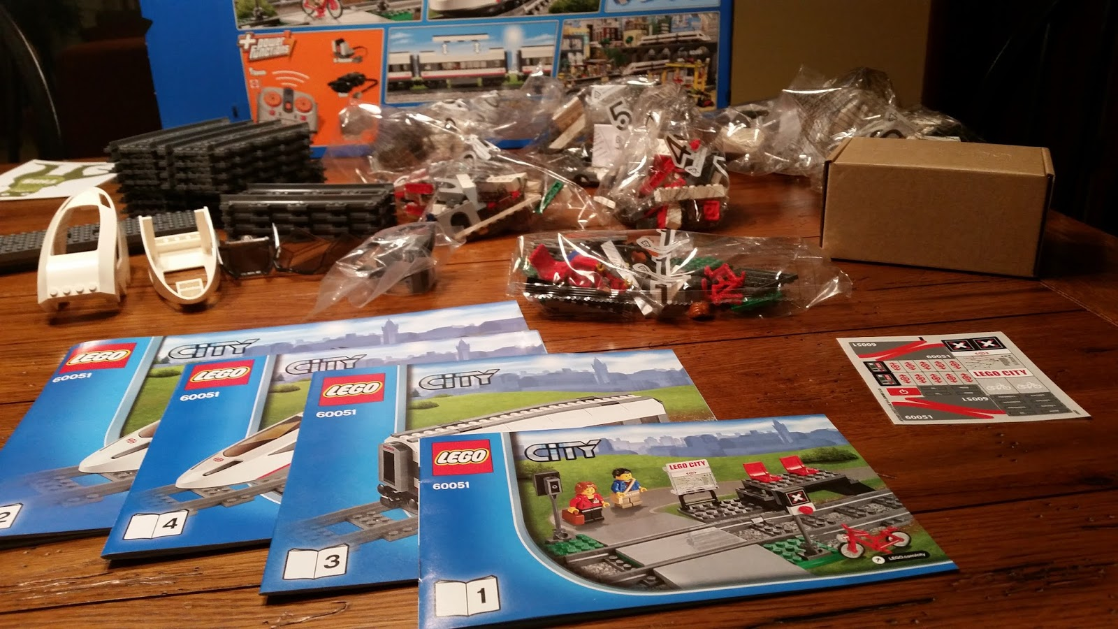 Playing With Bricks Review Lego 60051 High Speed Passenger Train