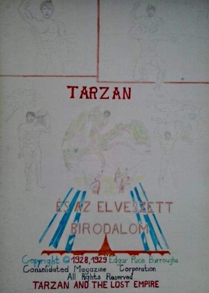 Tarzan és az elveszett birodalom saját rajz könyvből lerajzolva