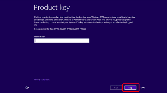 window 8.1 activation without product key, how to install window 8.1 without product key
