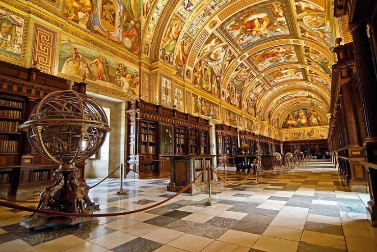 16. The Escorial Library, San Lorenzo de El Escorial, Spain - 31 Incredible Libraries and Bookstores Around the World