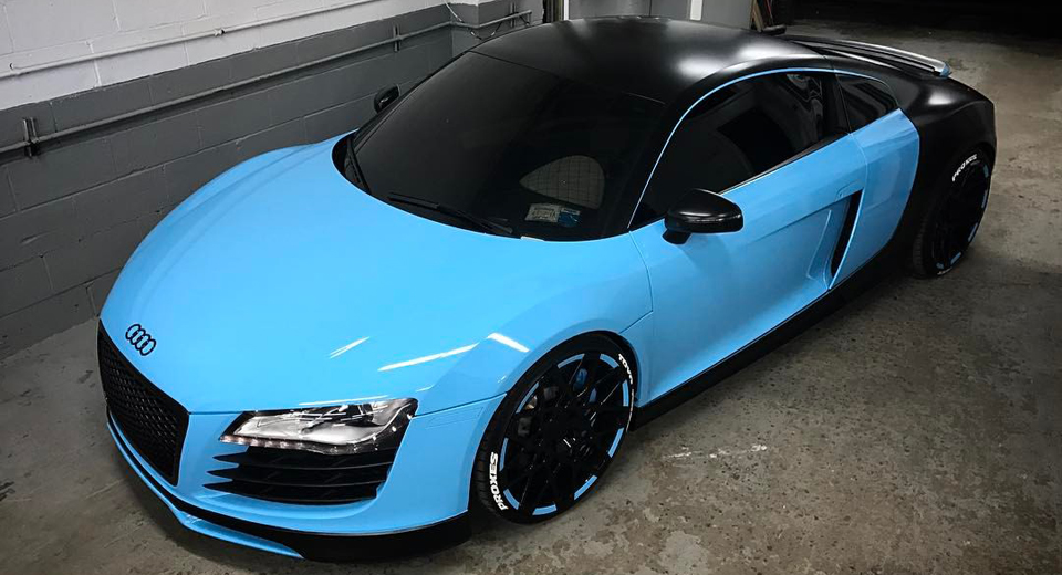 Audi R8 Gets Bugatti Chiron Inspired Wrap Does Not