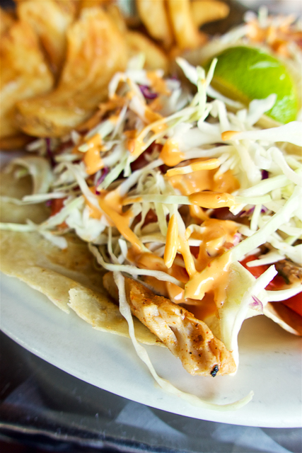 Fish Tacos at The Salty Pelican - Amelia Island, FL
