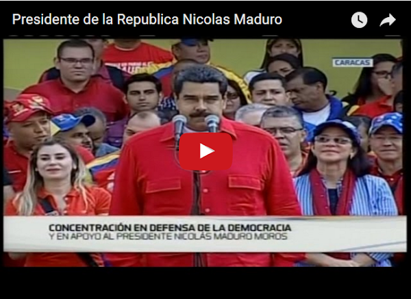 Cinco Mil personas reciben a Maduro en Miraflores