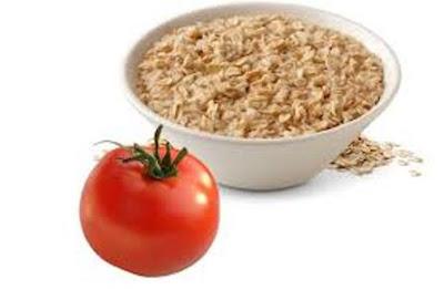 Làm trắng da tại nhà với cà chua bột yến mạch
