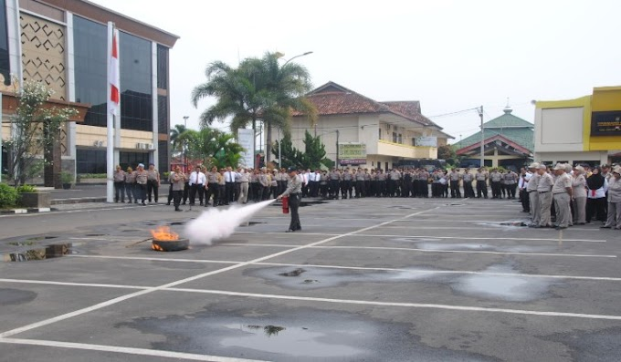 Polresta Bandar Lampung Adakan Pelatihan Penggunaan APAR