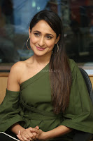Pragya Jaiswal in a single Sleeves Off Shoulder Green Top Black Leggings promoting JJN Movie at Radio City 10.08.2017 010.JPG