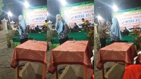 Video Viral! Emak-Emak Ceramah Yang Batalkan Acara Dangdutan di Sukoharjo