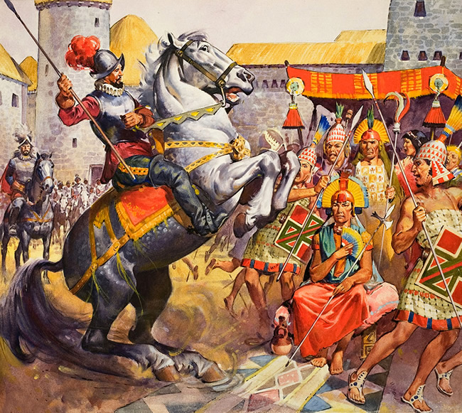 Conquistadors and the incas