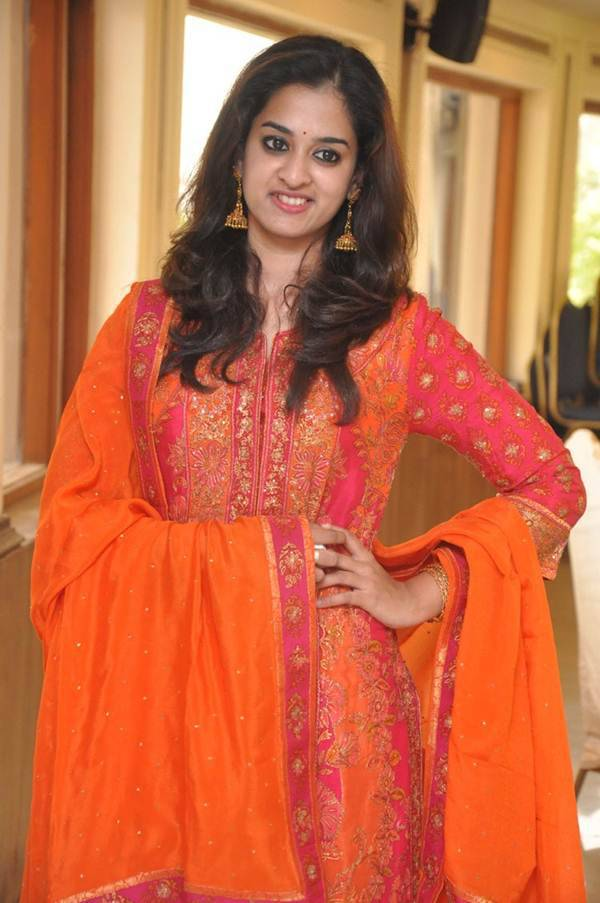 Nanditha Latest Photos In Orange Dress