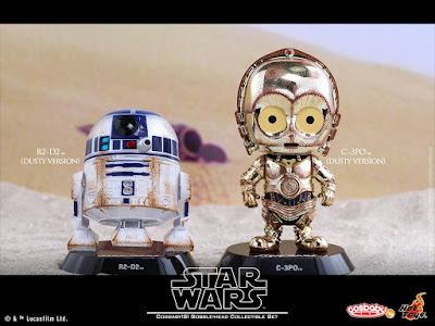 "Star Wars: The Original Trilogy Cosbaby Vinyl Figures by Hot Toys - Star Wars ""Dusty Version"" C-3PO and R2-D2 Cosbaby Set"