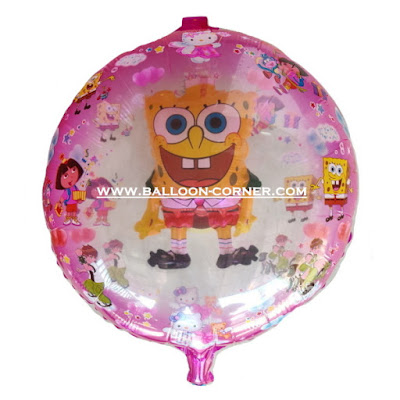 Balon Foil Karakter Spongebob 2 in 1