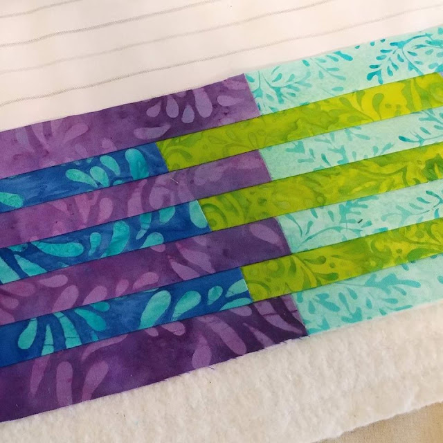 Making an interleave quilt with batiks