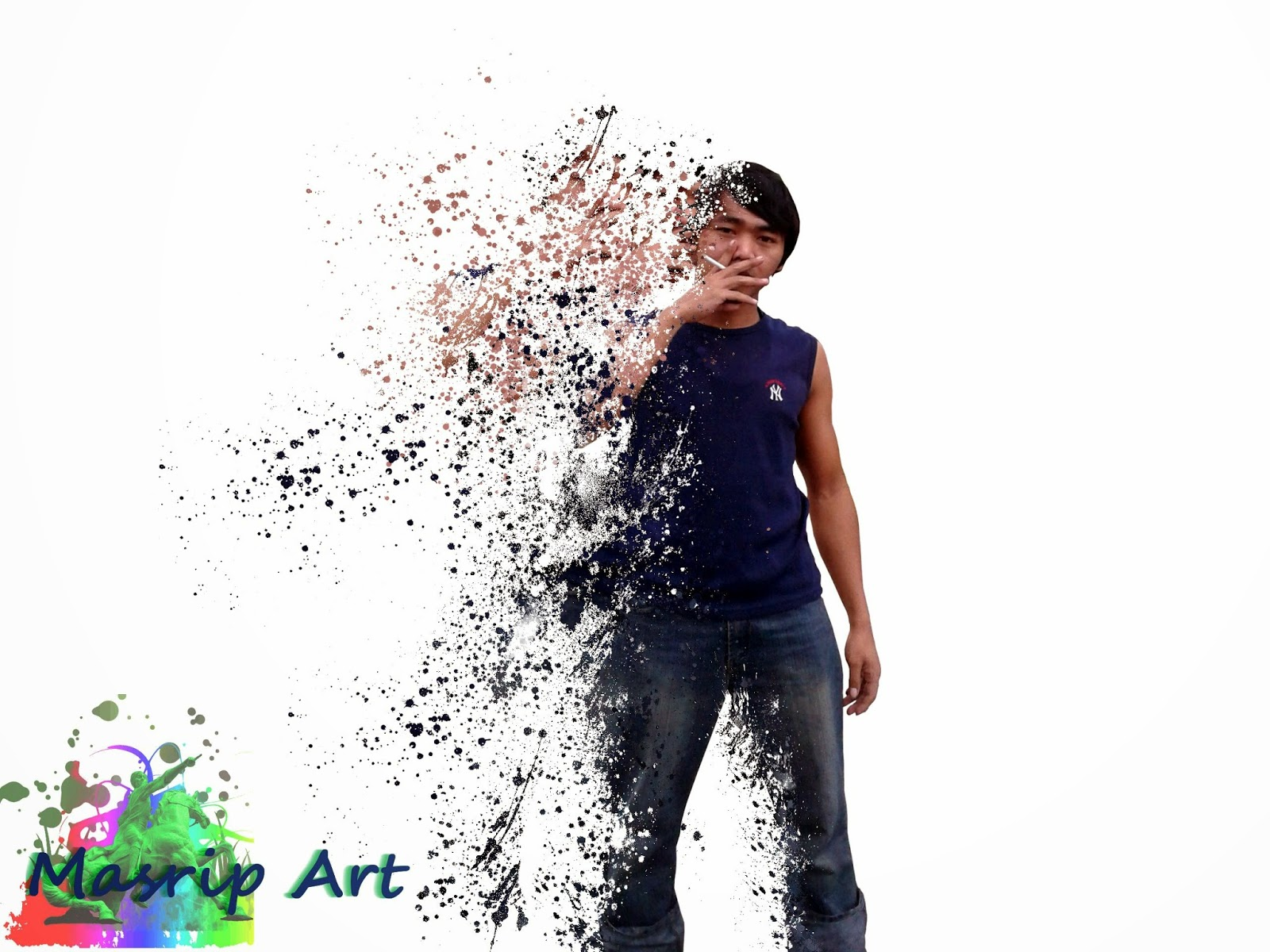 Tutorial GIMP-splatter effect