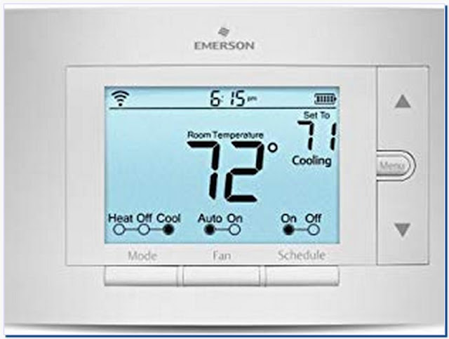 Emerson thermostats sensi smart thermostat wi-fi up500w works with alexa