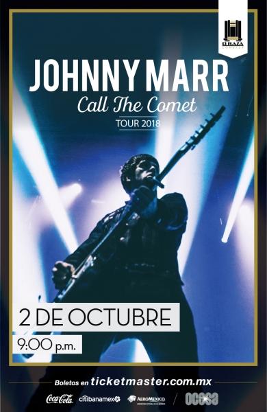 JOHNNY MARR TOCARÁ EN EL PLAZA CONDESA