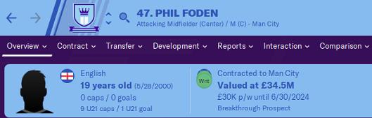 FM20 Wonderkid Analysis - Phil Foden