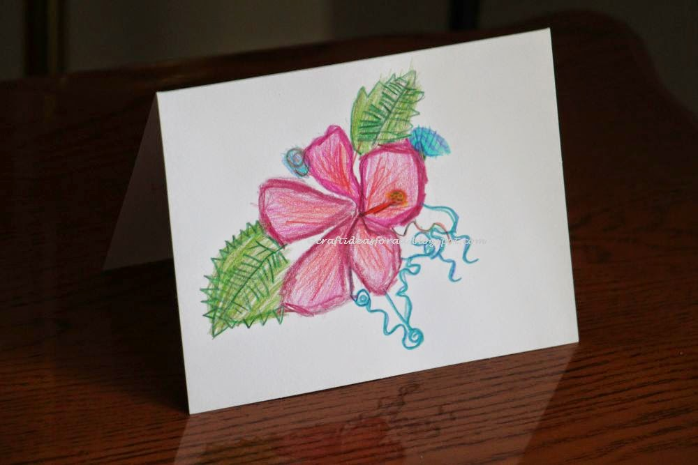 Craft Ideas For All Spring Flower Sketch Birthday Card Inspired