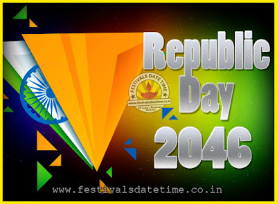 2046 Republic Day of India Date, 2046 Republic Day Calendar