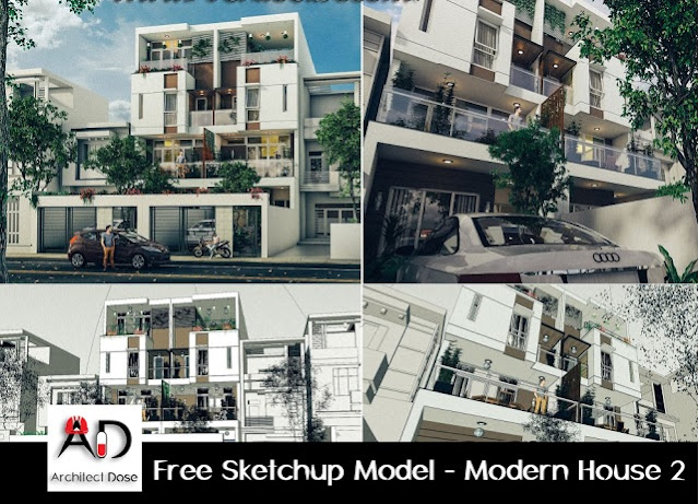 Free Sketchup Model - Modern House 2