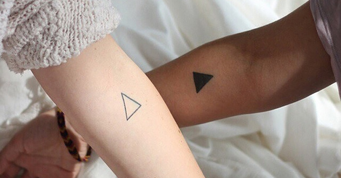 Couples Tringle Shape Tattoo For Valentine Day ! Art Magazine