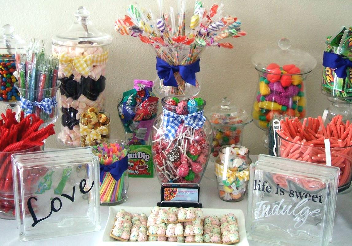 Centros de mesa para boda ideas para mesa de dulces en for Arreglos de mesa con dulces