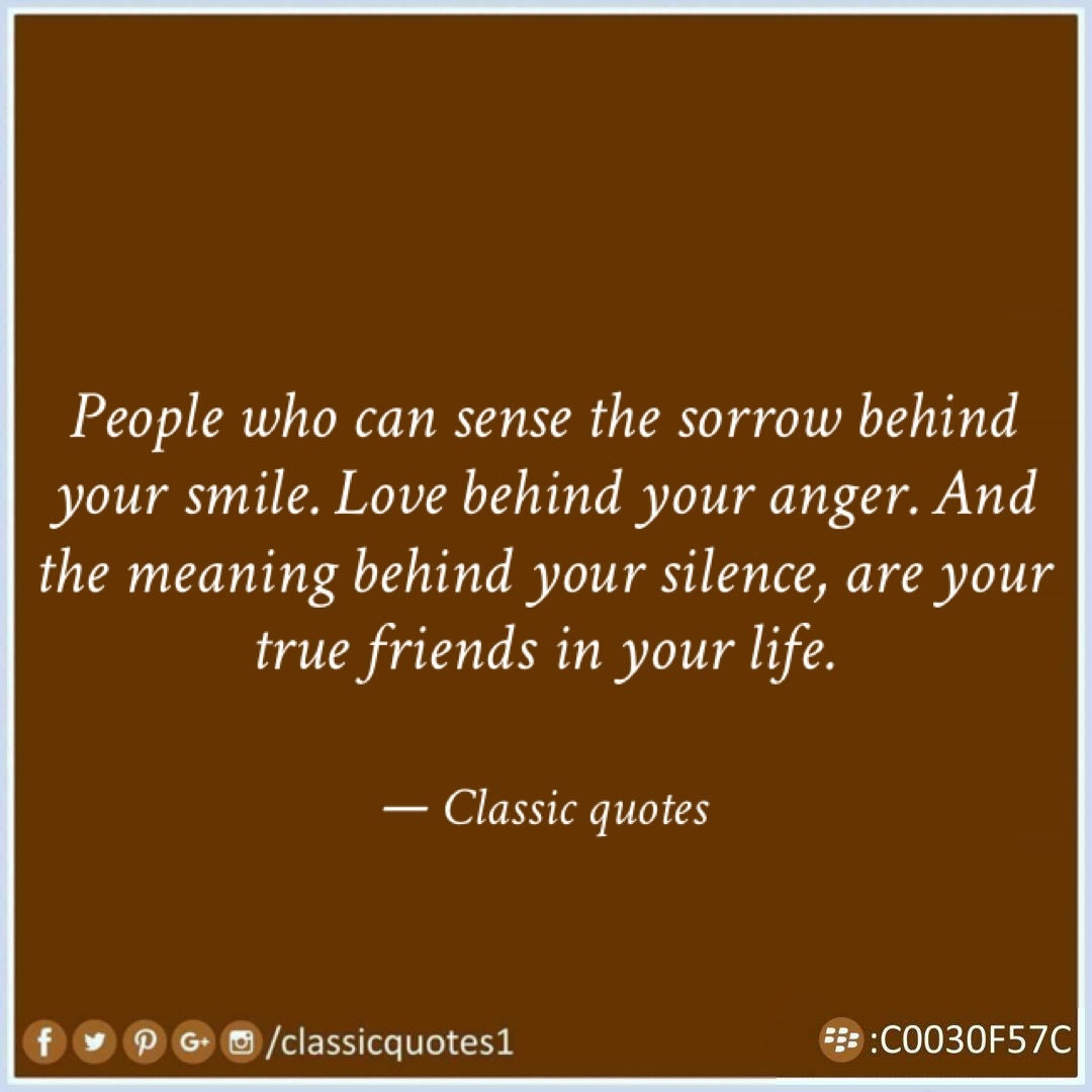 Quotes About Love And Anger: Classic Quotes: People Who Can Sense The Sorrow Behind