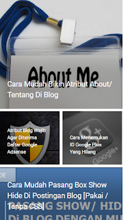 Cara Membuat Slide Perlabel / Kategori Tanpa Css di Blog