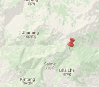 Earthquake epicenter map of Nuwakot, Nepal