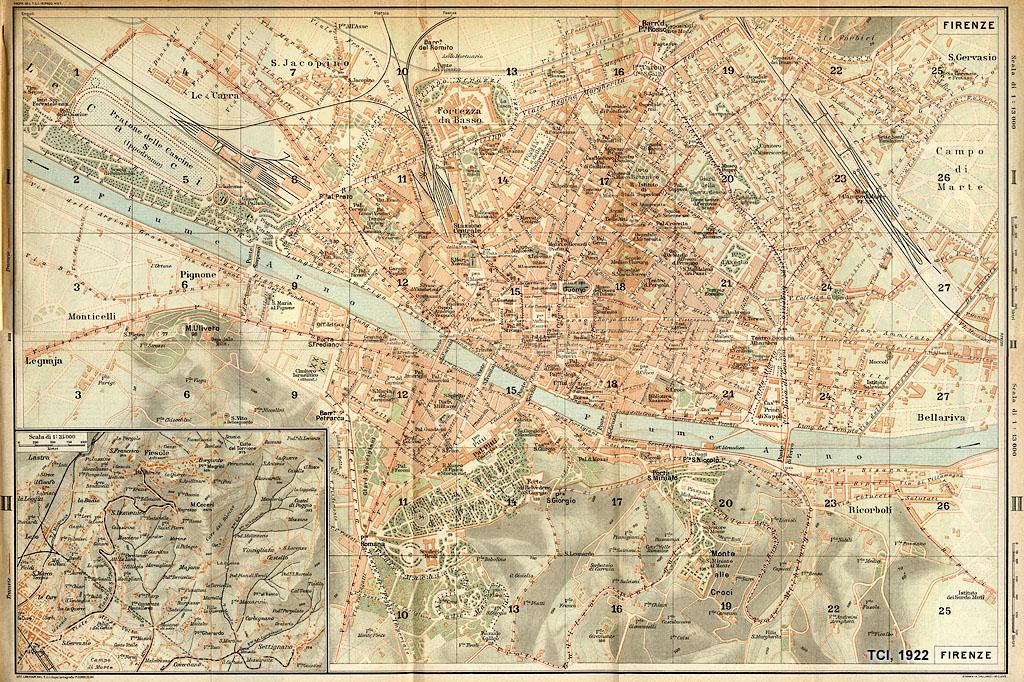 Rerum Romanarum: Mappa del Touring Club Italiano di ...