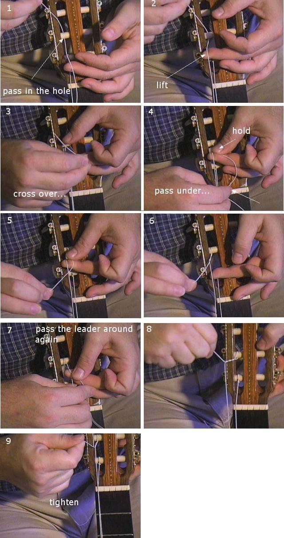 Cách lắp dây đàn guitar Classic