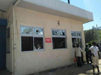 Kisumu supermarket looted by thugs. PHOTO | FILE