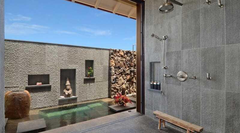 Clean A Bathroom Plans this outdoor bathroom design, natural open air bathroom plans