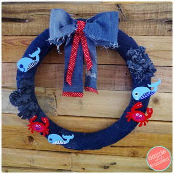 http://www.dazzlewhilefrazzled.com/diy-denim-nautical-ocean-wreath/