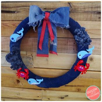 http://www.dazzlewhilefrazzled.com/diy-denim-nautical-ocean-wreath/