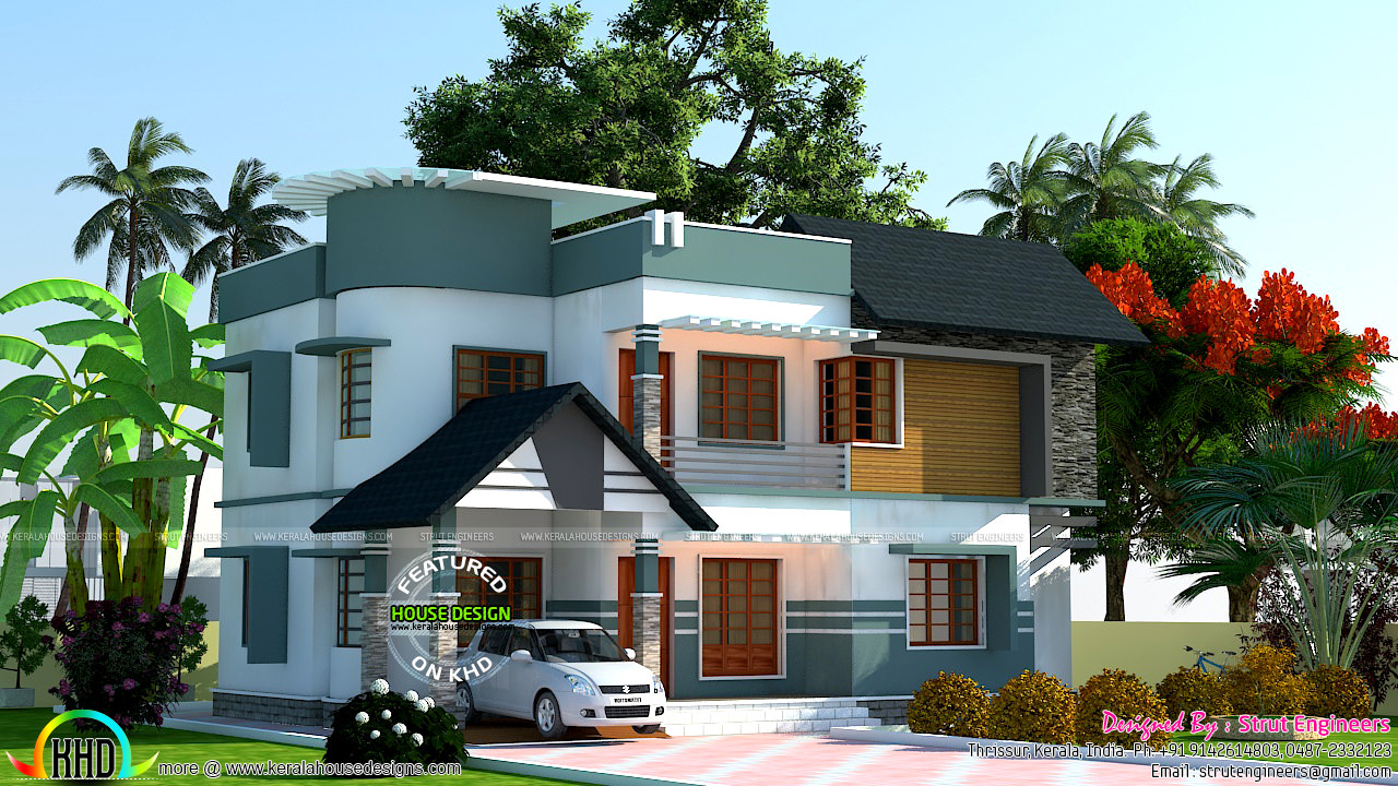 3 different house designs by strut engineers kerala home for Different house designs