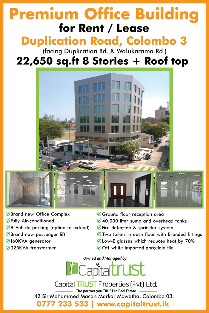 Premium Office Building for Rent in Duplication Rd, Colombo 03.