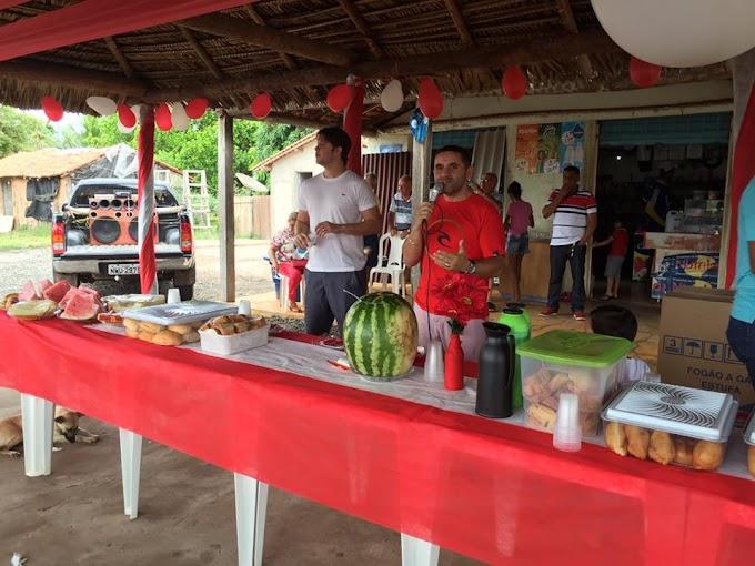 Mário Assunção participa de comemorações do mês das mães em várias comunidades