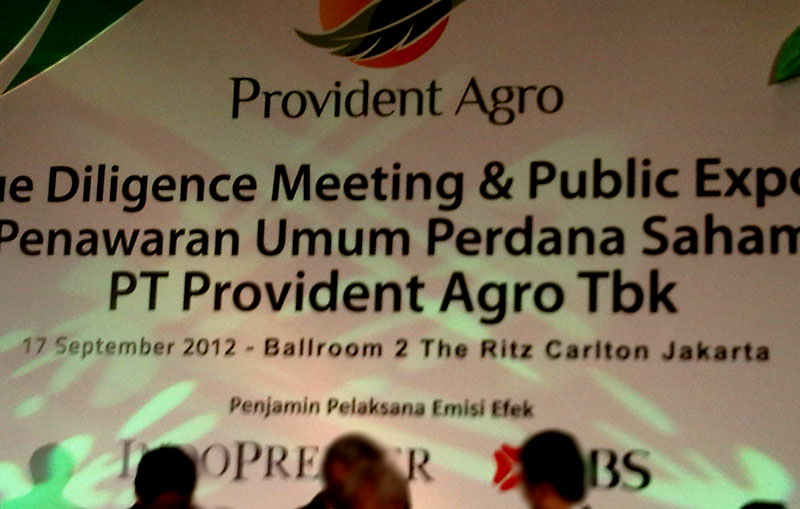 palm oil company pt provident agro tbk
