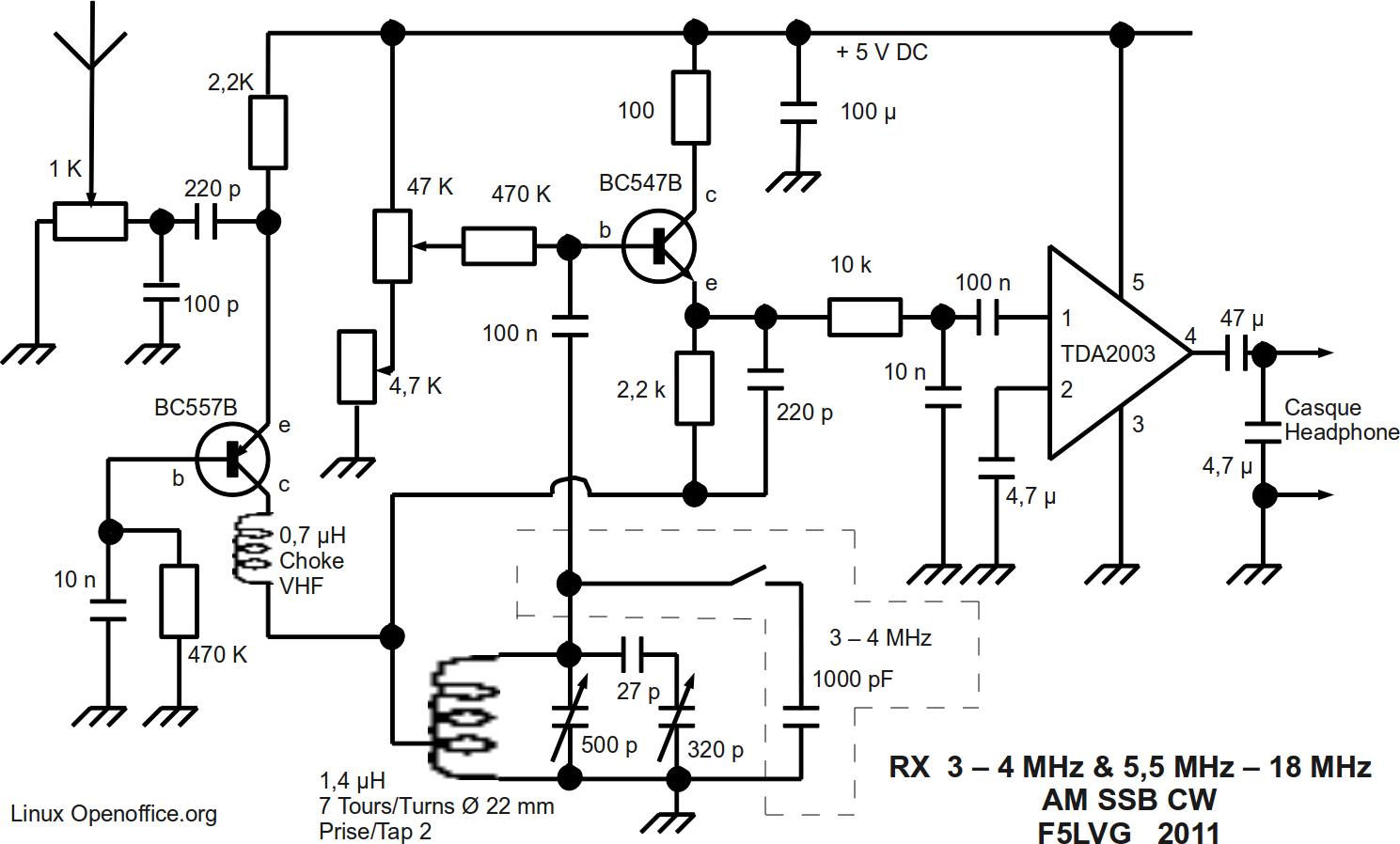 Schema Recepteur A Reaction 3 4 Amp 5 5 18 Mhz Electro Schematic