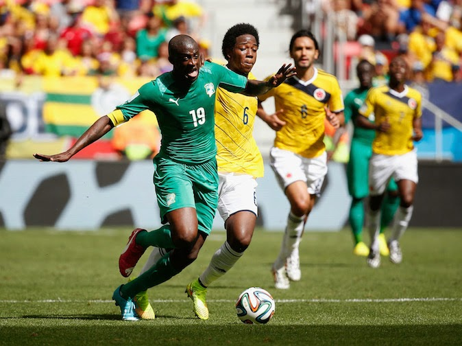 2014 World Cup: Colombia on Course For Last 16 After 2-1 Win Over Cote d'Ivoire