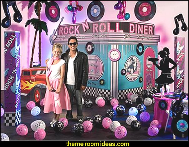 Rock the Night Away Kit  50s party ideas - 50s party decorations - 1950s Theme Party - 1950's Rock and  Roll Themed Party Supplies - 50s Rock and Roll Theme Party - 50s party decorations - 50s party props - 50s diner party   50s Costumes