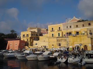 The picturesque harbour on the island of Ventotene