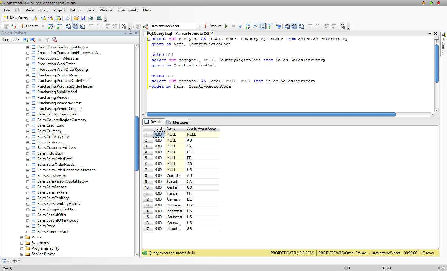 Grouping Records With Sql Server